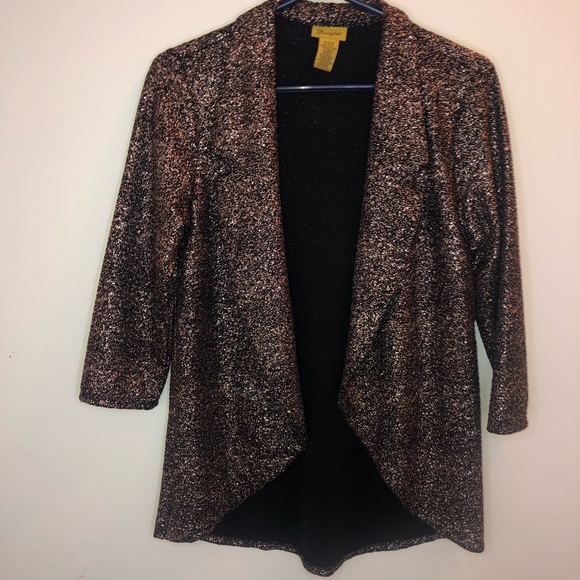 78aa4fb0 Bronze glitter Wrangler cardigan size M